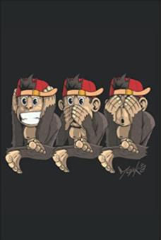 3 Affen - Nichts hören Notizbuch