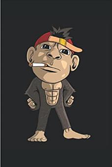 Notizbuch - Süßer Affe raucht eine Zigarette