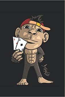 Süßer Affe Poker Skat