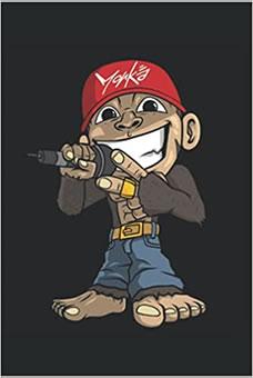 Süßer Affe Rapper HipHop Rap