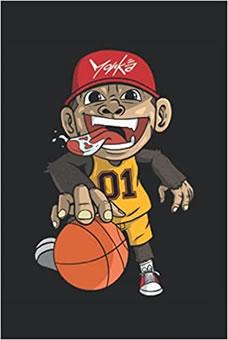 Süßer Affe Basketball Mannschaft
