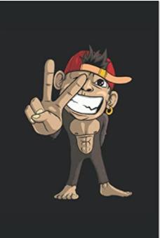 Notizbuch - Süßer Affe zeigt Victory-Zeichen