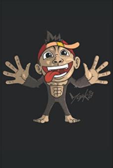Notizbuch - Süßer Affe zeigt die Zunge