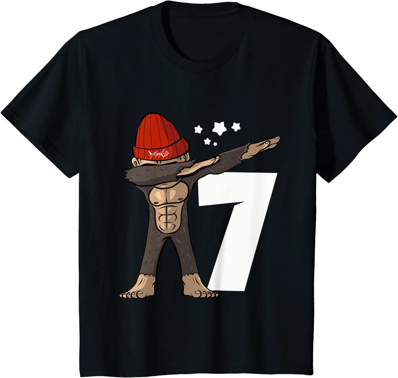 7_ Geburtstag Dabbing Affe 7 Jahre alt - Standard T-Shirt
