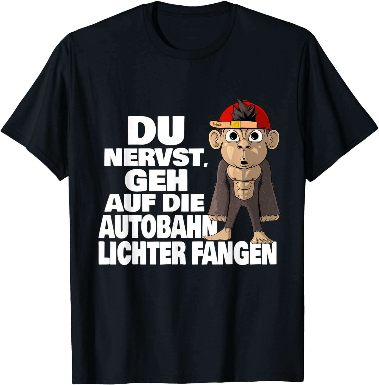 Humor Nerven Affe Lichter fangen - Standard T-Shirt