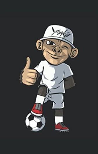 Notizbuch - Fußball Fußballer Affe Fußballspieler