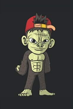 Notizbuch - Halloween Monster Affe Zombie