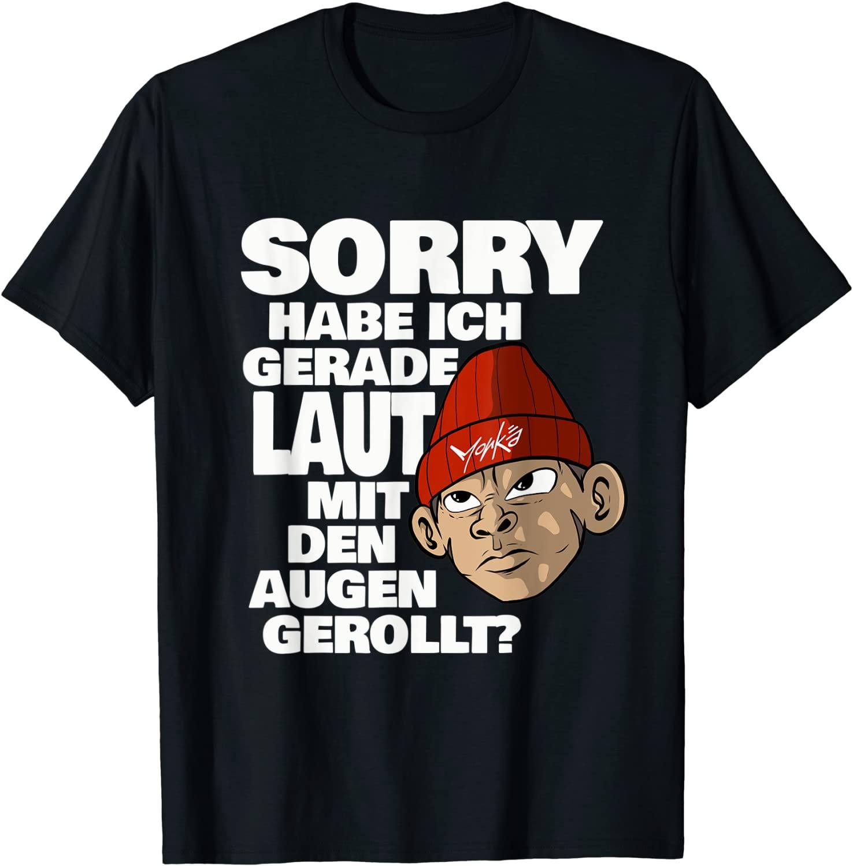 Spruch Laut mit den Augen gerollt Affen - Standard T-Shirt
