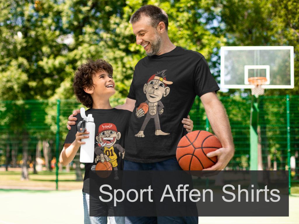 Sportliche Affen Shirts Humor