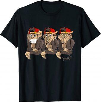 3 Affen - Nichts sehen_ hören und sagen T-Shirt