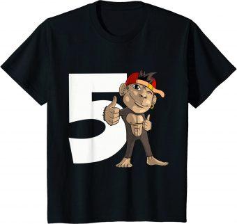 5_ Geburtstag Affe 5 Jahre alt - Standard T-Shirt