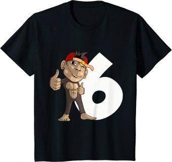 6_ Geburtstag Affe 6 Jahre alt - Standard T-Shirt