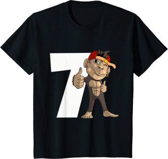 7_ Geburtstag Affe 7 Jahre alt Gorilla - Standard T-Shirt