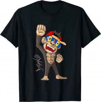 Barbados Flagge - jubelnder Affe - Fan - Standard T-Shirt