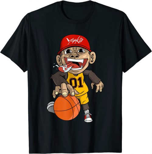 Basketball Affe Basketballspieler - Standard T-Shirt-