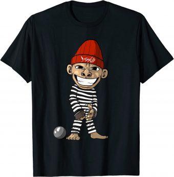Gefangener Gefängnis Affe Häftling Sträfling - Standard T-Shirt