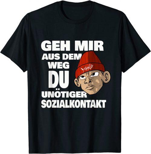 Geh mir aus dem Weg du unnötiger Sozialkontakt Affe - Standard T-Shir