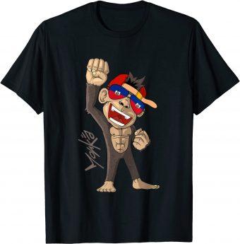 Haiti Flagge - jubelnder Affe - Fan - Standard T-Shirt