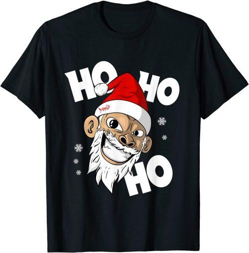 Ho Ho Ho Weihnachtsmann Affe Weihnachten