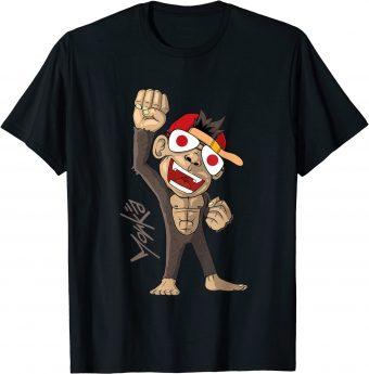 Japan Flagge - jubelnder Affe T-Shirt
