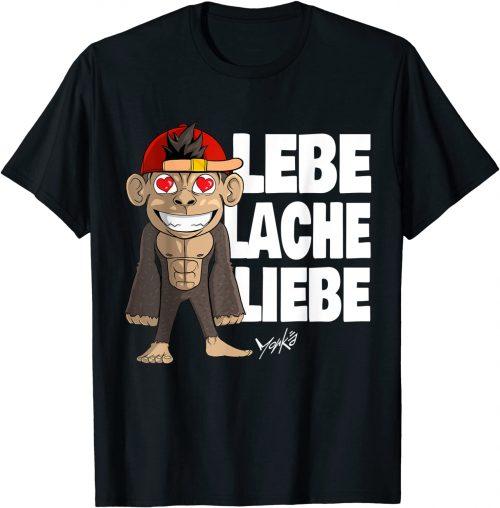 Lebe Lache Liebe Spruch Motivation Lebensmotto Affen