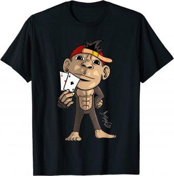 Poker Affe Skat Asse Kartenspieler - Standard T-Shirt