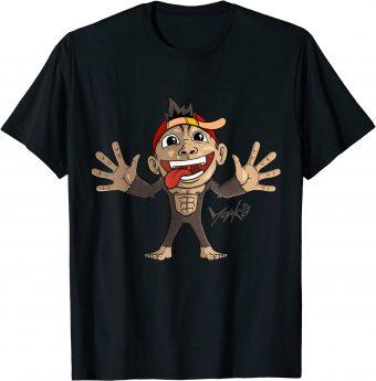 Süßer Affe breitet die Arme aus - Standard T-Shirt