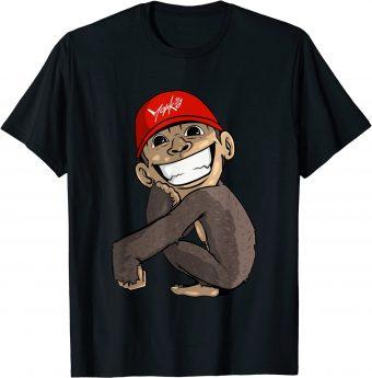 Süßer Affe hockt am Boden - Standard T-Shirt