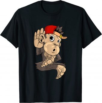 Süßer Affe hört zu T-Shirt
