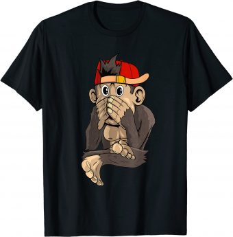 Süßer Affe kann nicht reden T-Shirt