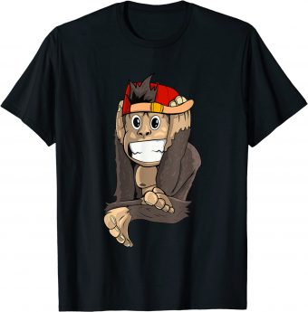 Süßer Affe kann nichts hören - Standard T-Shirt