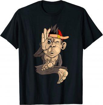Süßer Affe macht OK-Zeichen T-Shirt