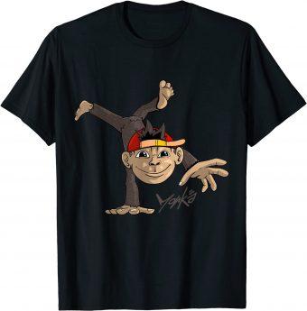 Süßer Affe macht einen einarmigen Handstand - Standard T-Shirt