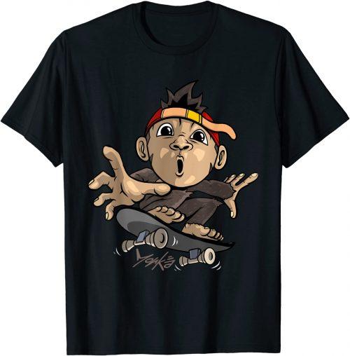 Süßer Affe mit Skateboard - Skater - Standard T-Shirt