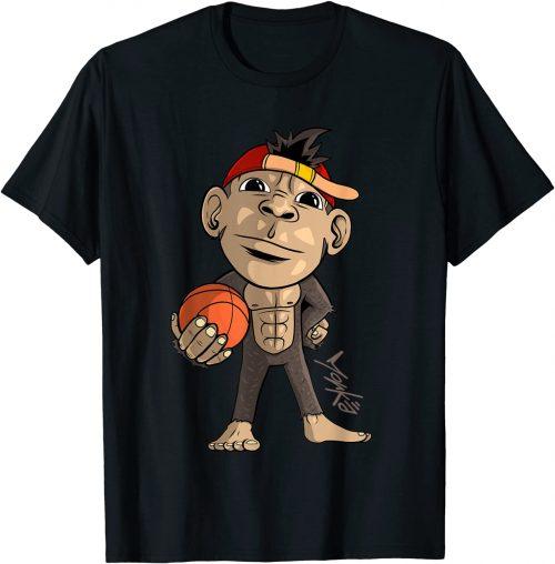 Süßer Affe mit einen Basketball - Standard T-Shirt