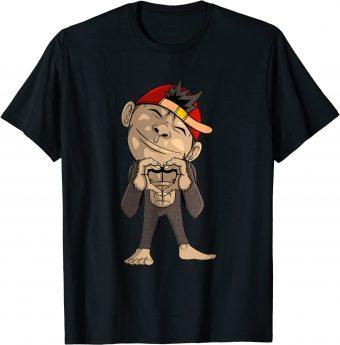 Süßer Affe zeigt ein Herz T-Shirt