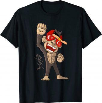 Türkei Flagge - jubelnder Affe - Fan - Standard T-Shirt