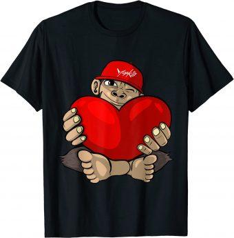 Verliebter Affe mit großem Herz